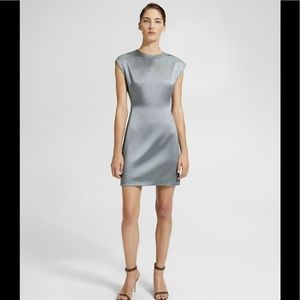 Theory structured fitted dress - gray cloud
